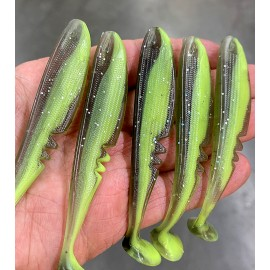 Limited Edition - Rackershad, Clear Smoke Chartreuse, 10,5cm, UV Active