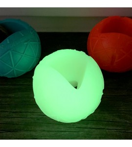Self-luminous dog ball, incl. UV lamp for quick charging!