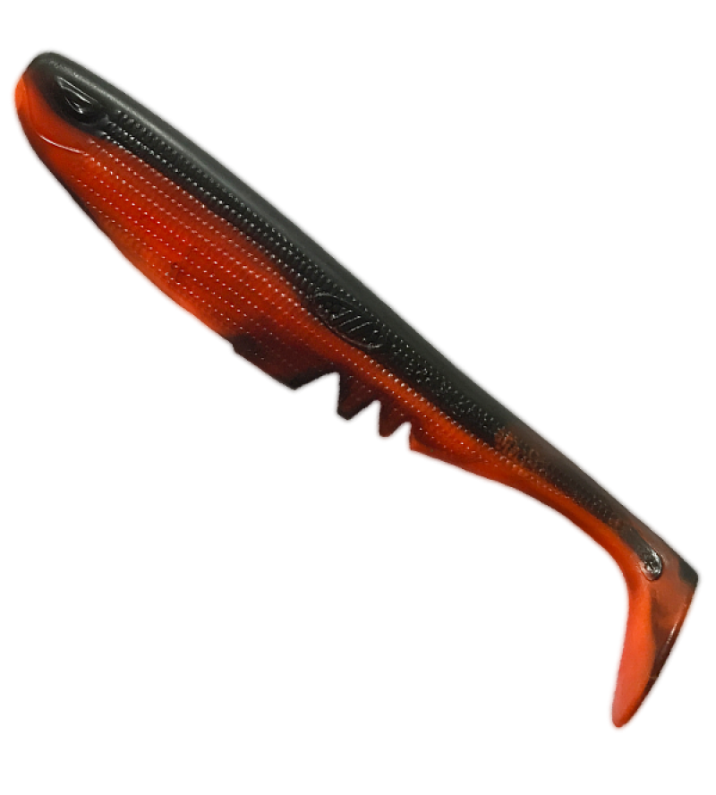 Racker Shad, Schwarz-Orange  - UV Aktiv